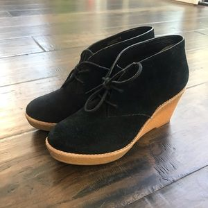 Cole Haan black suade boots - like new